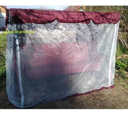 Качели Варадеро бордовые премиум с москитной сеткой